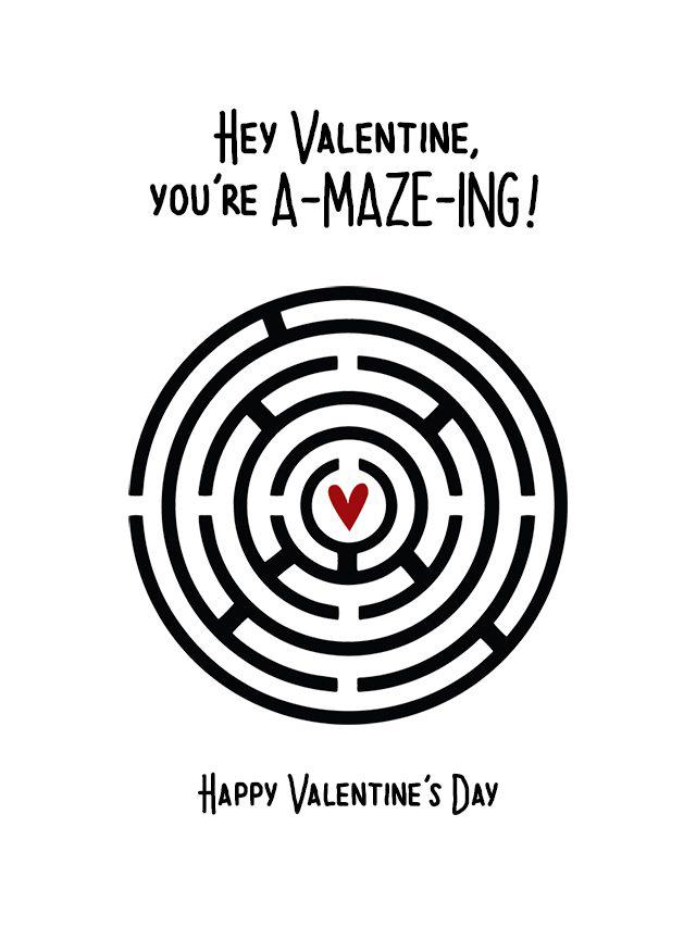 Valentines Mazes Best Coloring