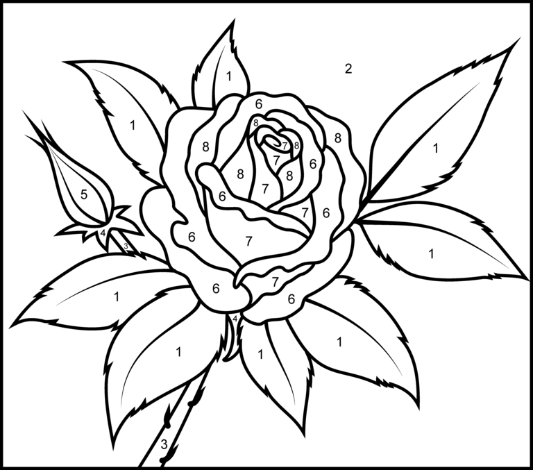 Valentines Color by Number - Best Coloring Pages For Kids