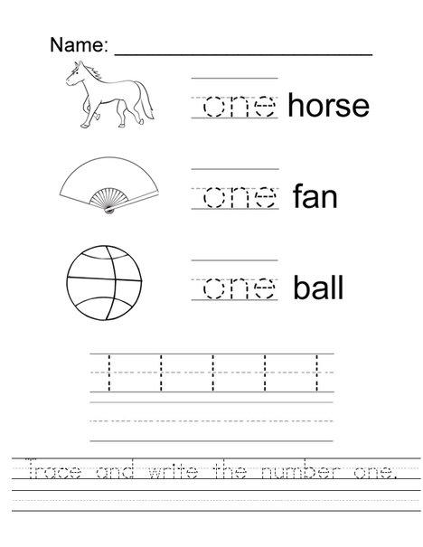 Word Trace - Kindergarten Handwriting Worksheets