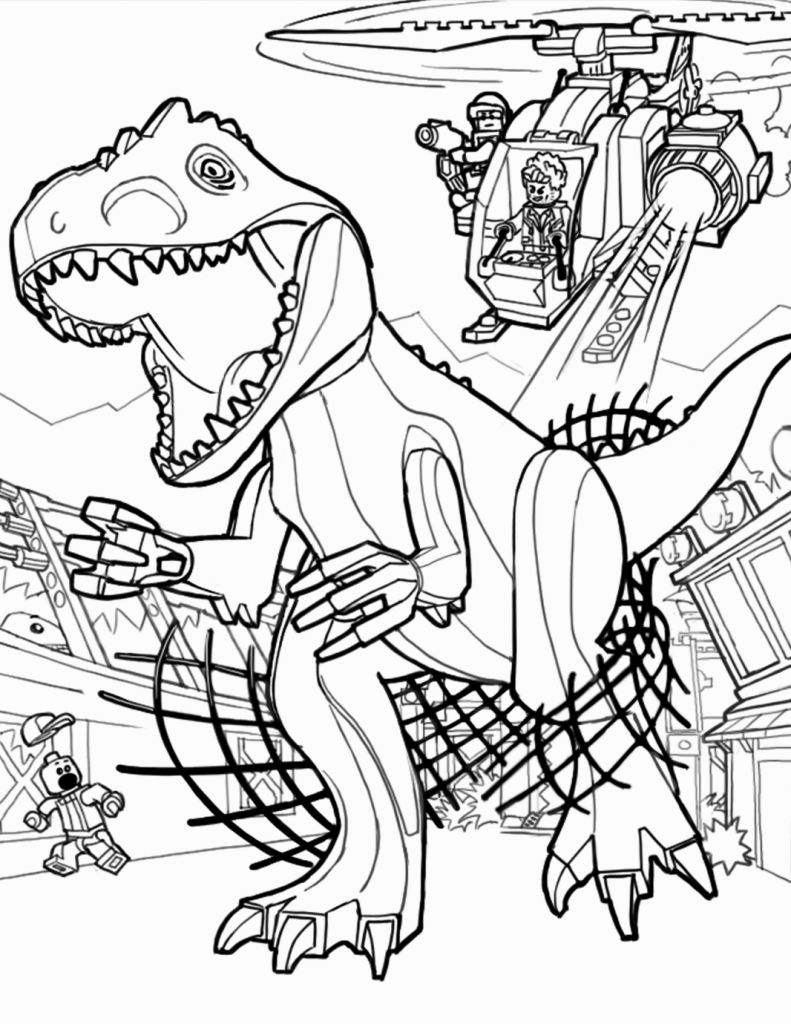 Air Capture Jurassic World Coloring Pages