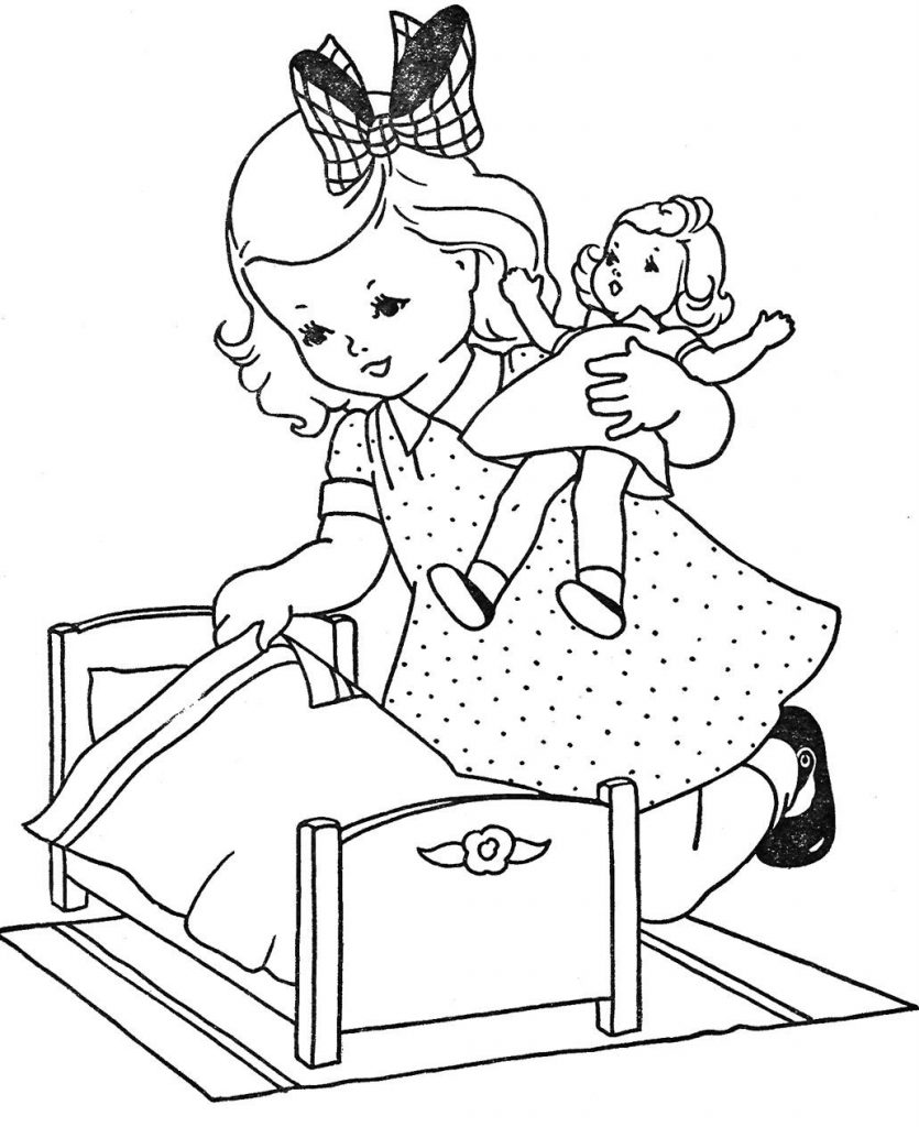 doll coloring book pages - photo#38