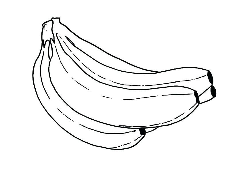 Banana coloring page | Free Printable Coloring Pages | 591x838