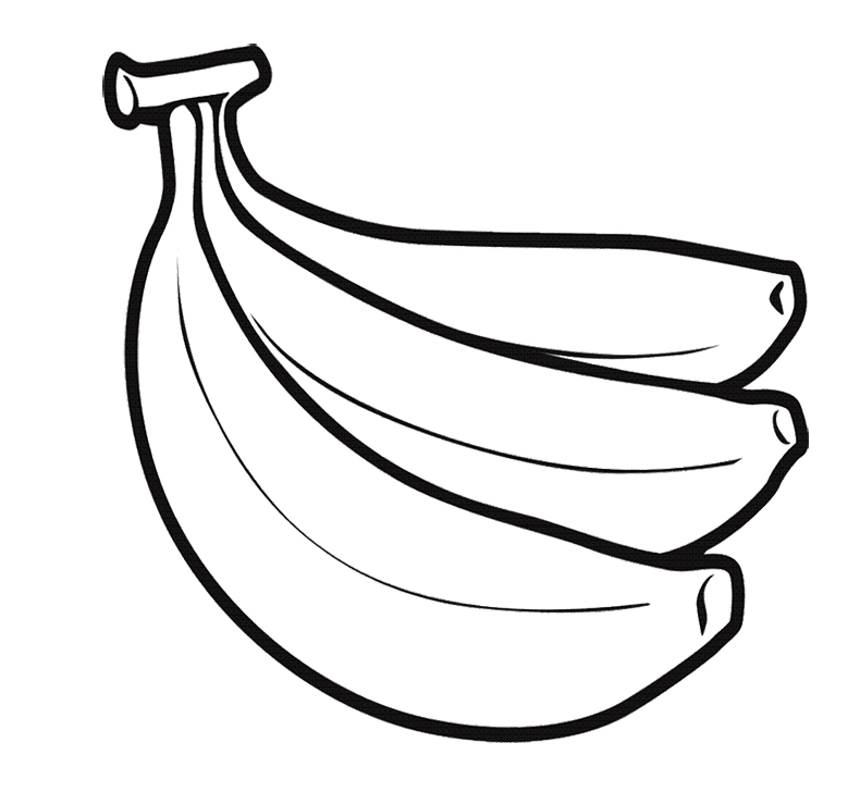 Banana Fruit Coloring Pages