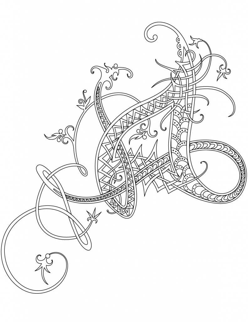 Beautiful Celtic Coloring Pages