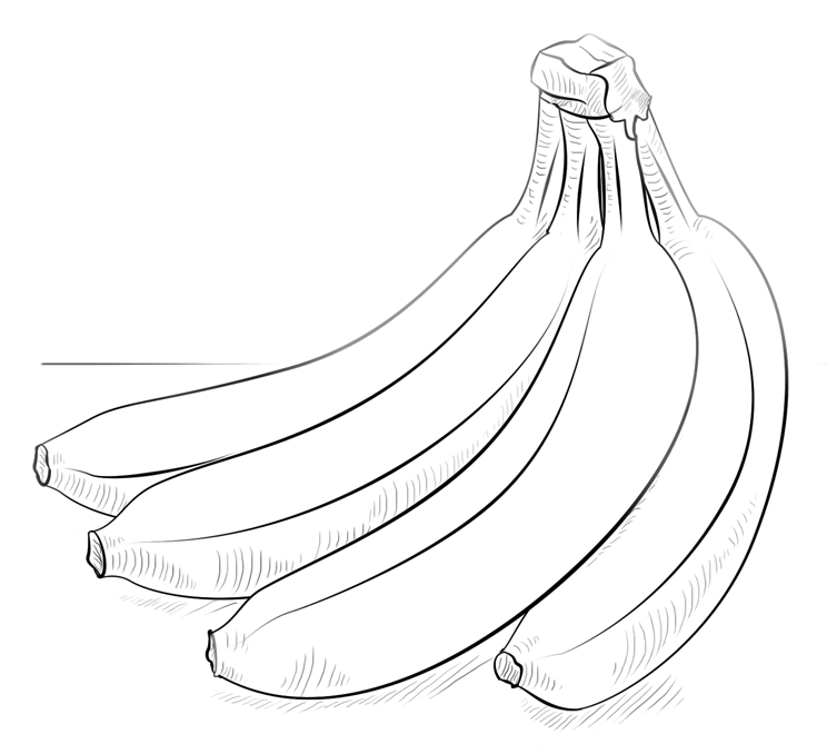 Bunch of Bananas Coloring Page