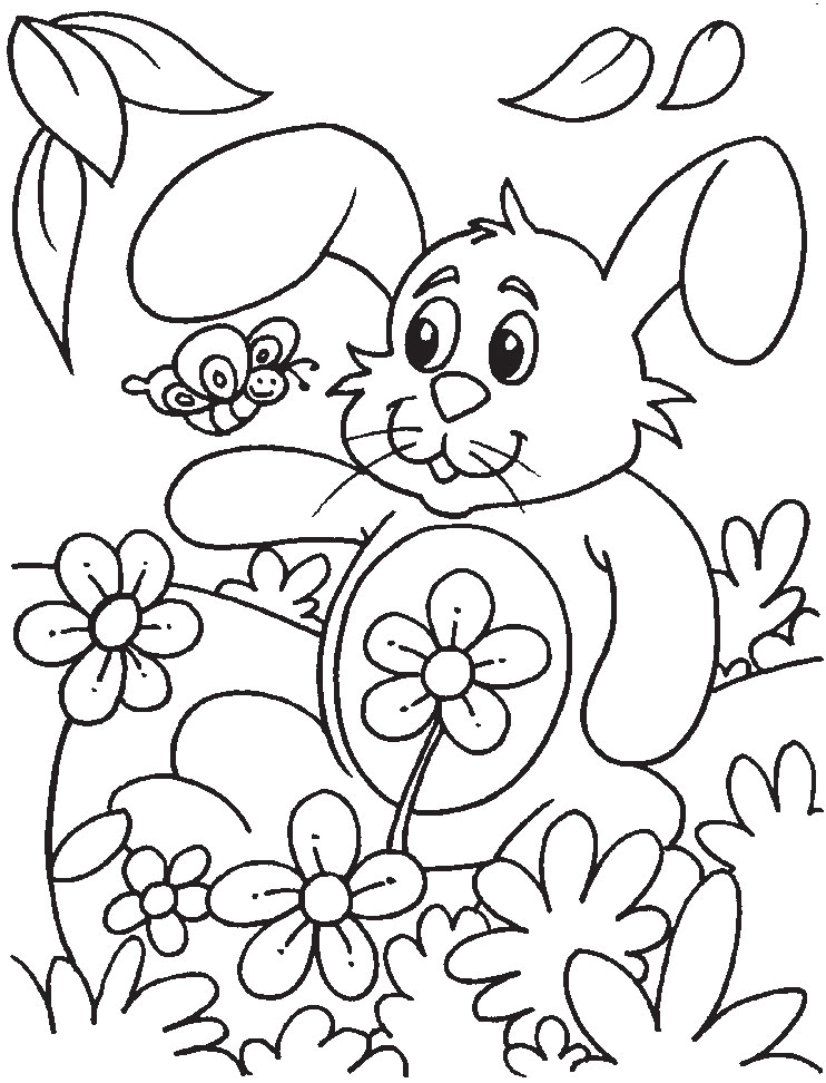Bunny March Coloring Pages