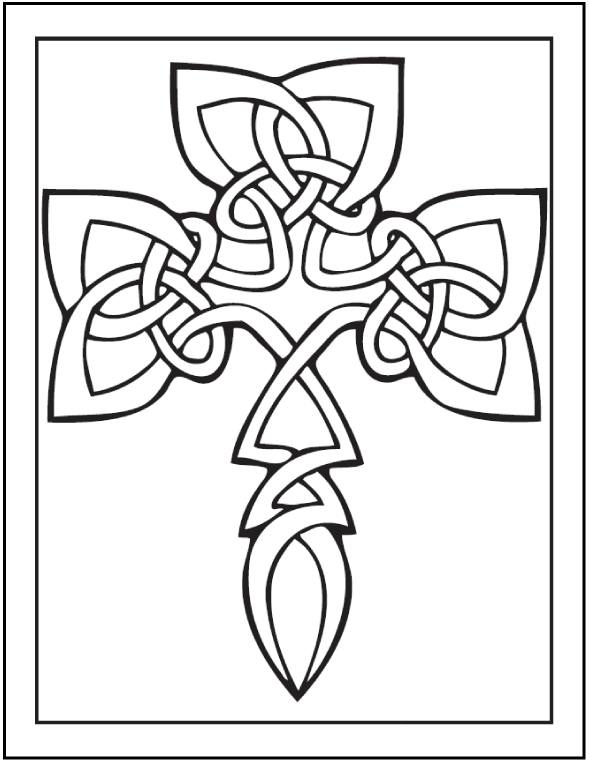 Celtic Art Symbol to Color