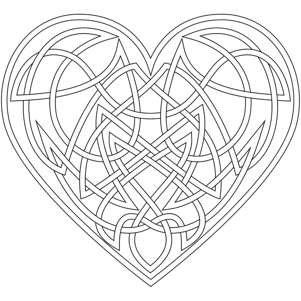 Celtic Heart Symbol Coloring Pages
