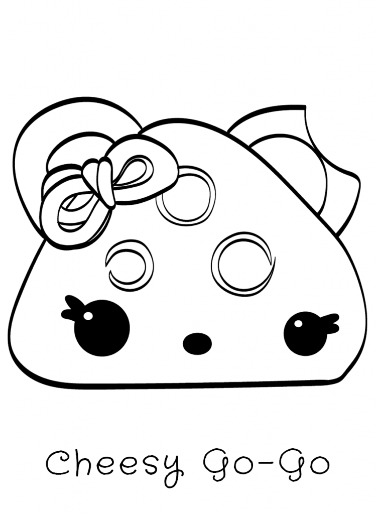 Cheesy Go Go Num Noms Coloring Pages
