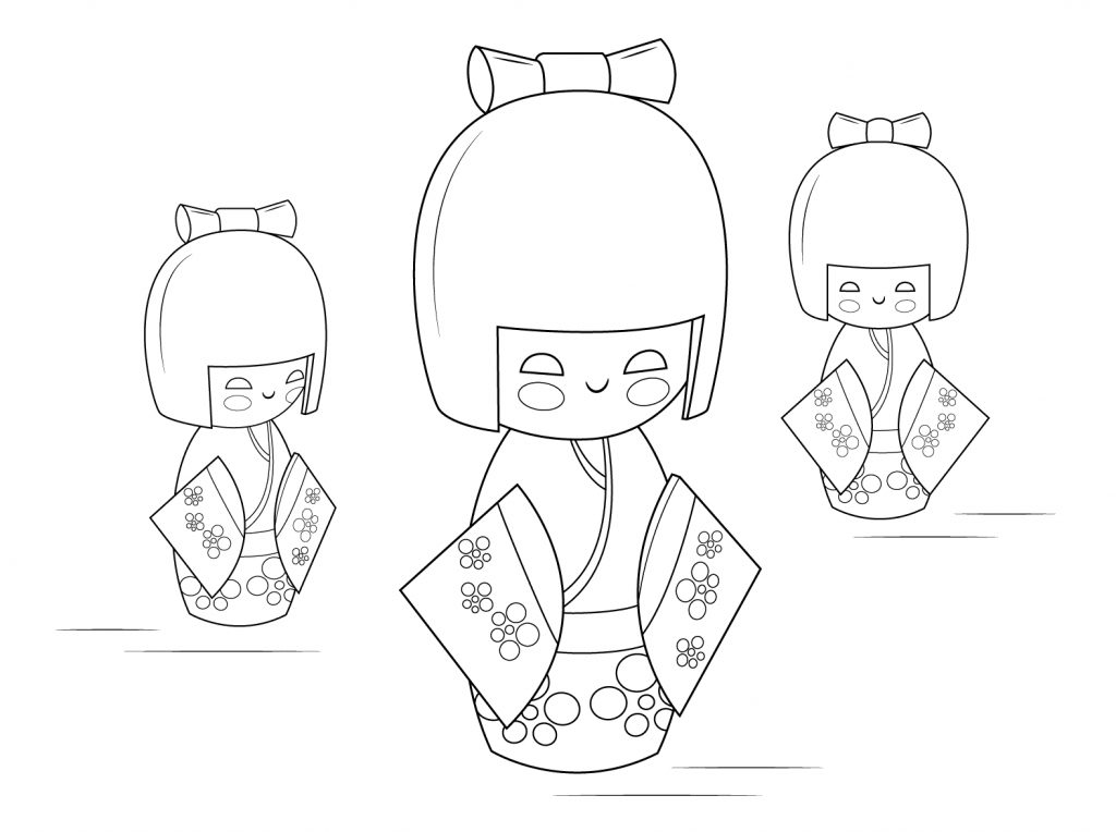 China Doll Coloring Pages