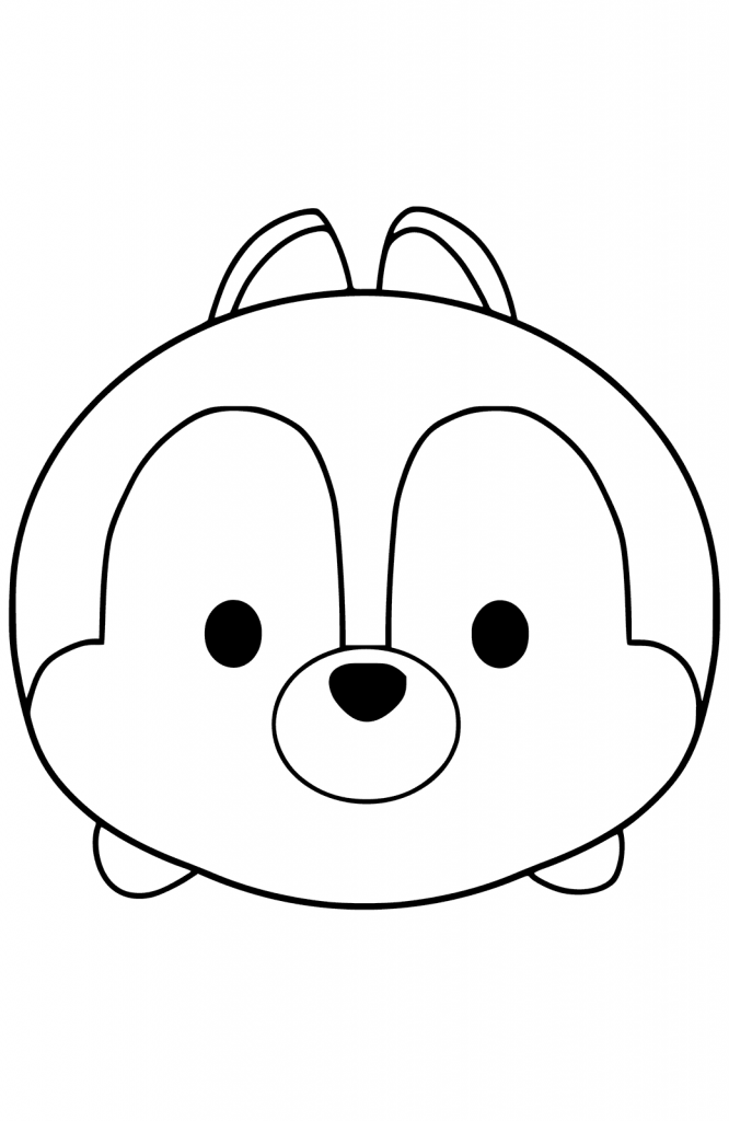 Chip Tsum Tsum Coloring Pages