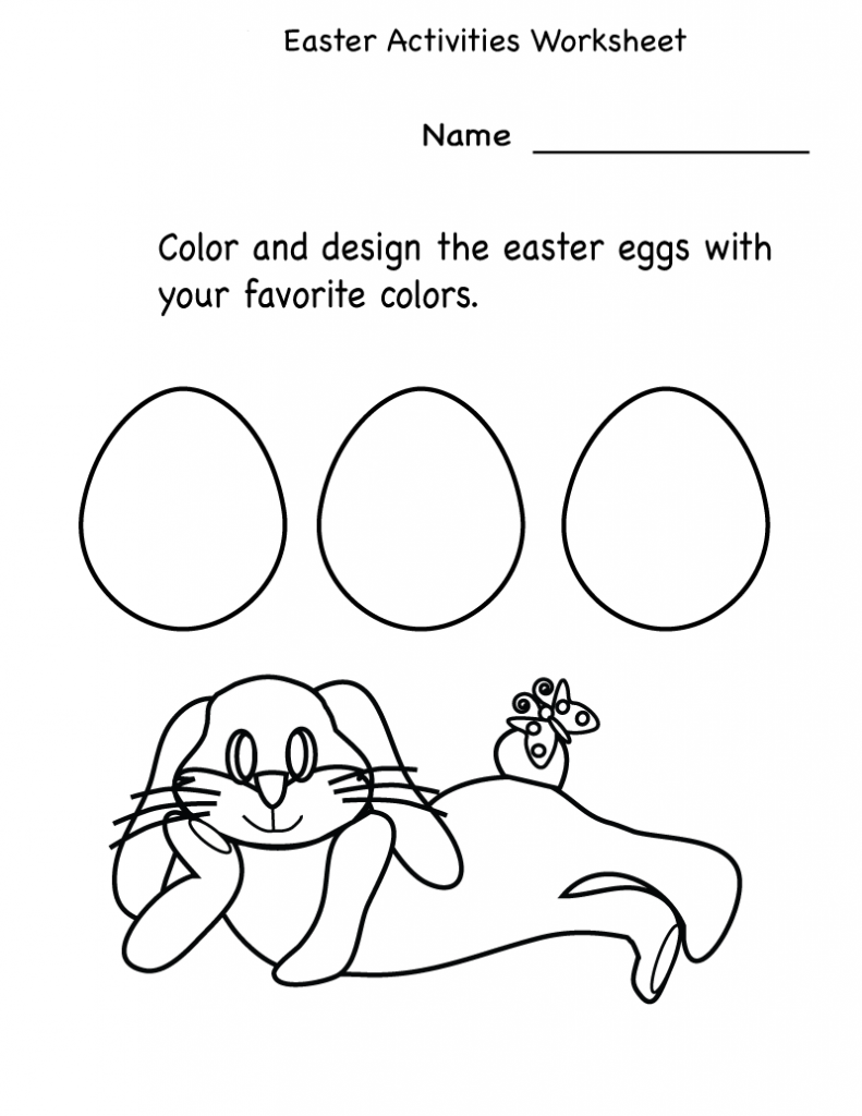 Color and Design Easter Eggs Activity