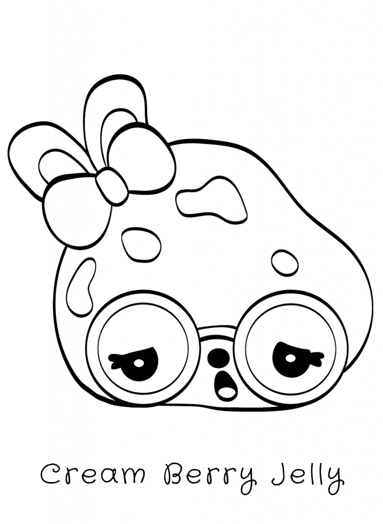 Cream Berry Jelly Num Noms Coloring Pages