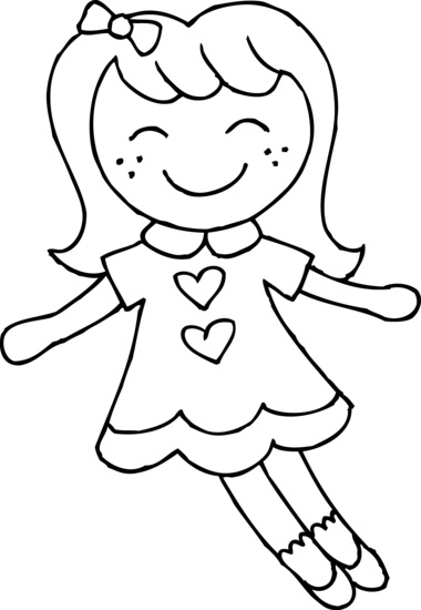 Cute Girls Doll Coloring Pages
