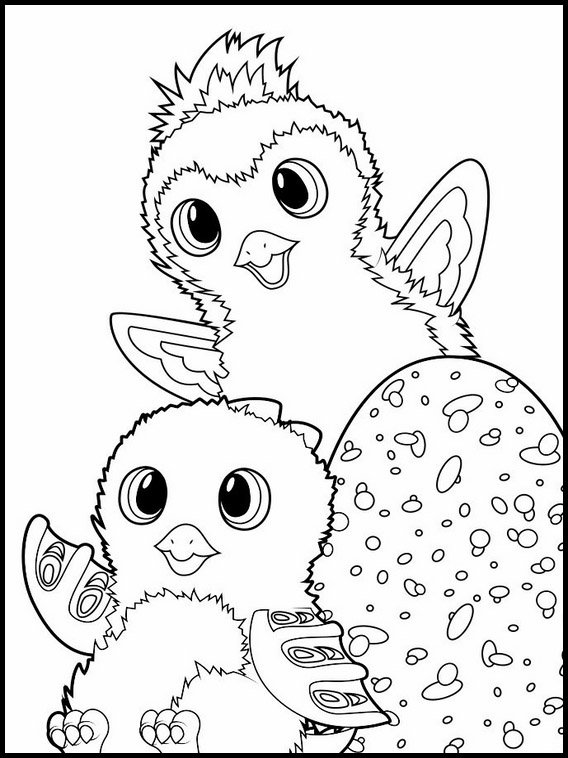 Cute Hatchimals Coloring Pages