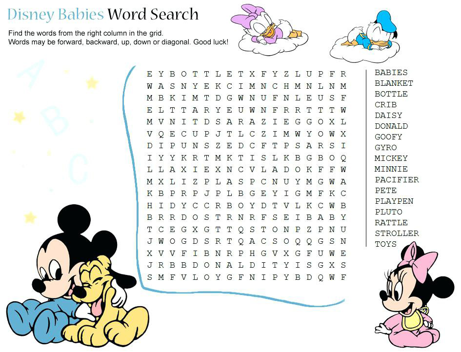 Disney Babies Word Search