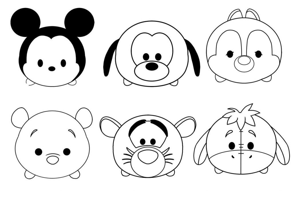 Disney Tsum Tsum Characters Coloring Pages