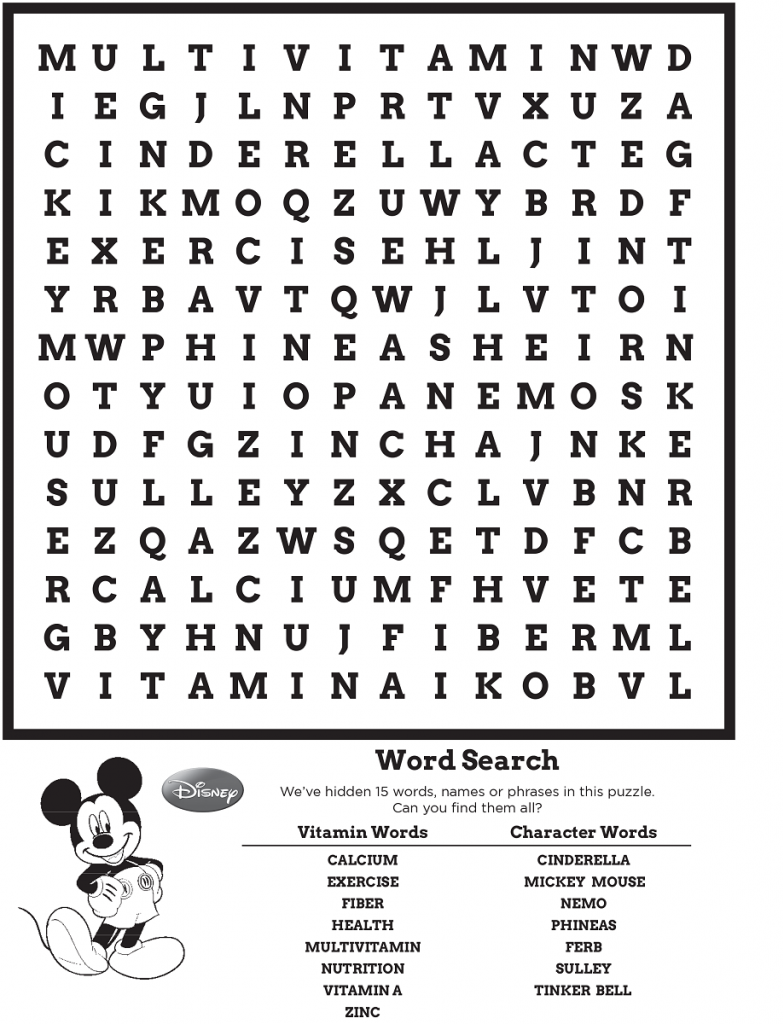 Disney Word Search