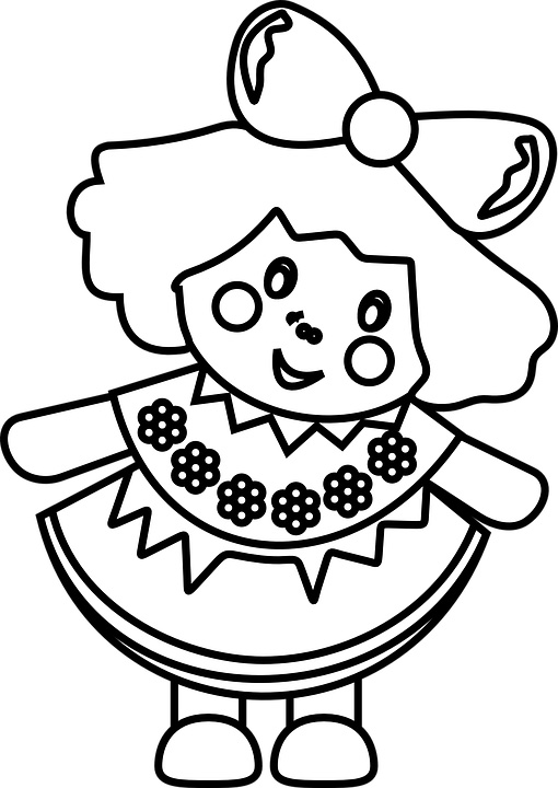 Doll Clipart to Color