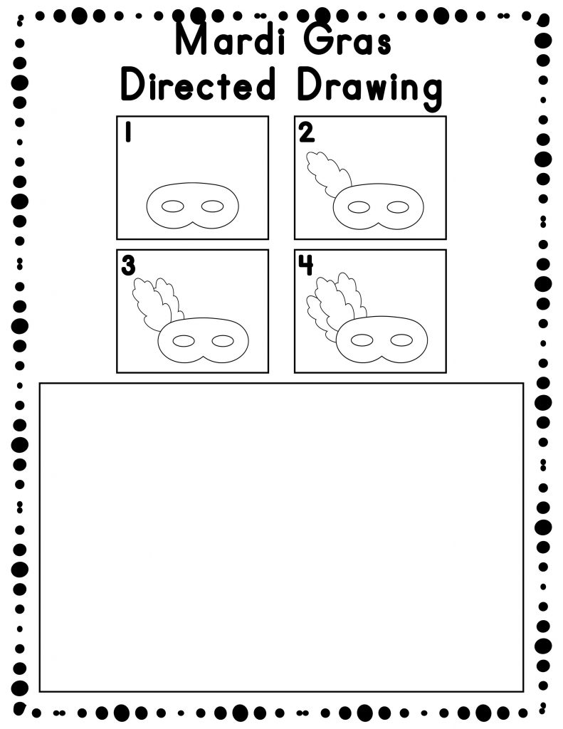 Draw Mardi Gras Worksheet