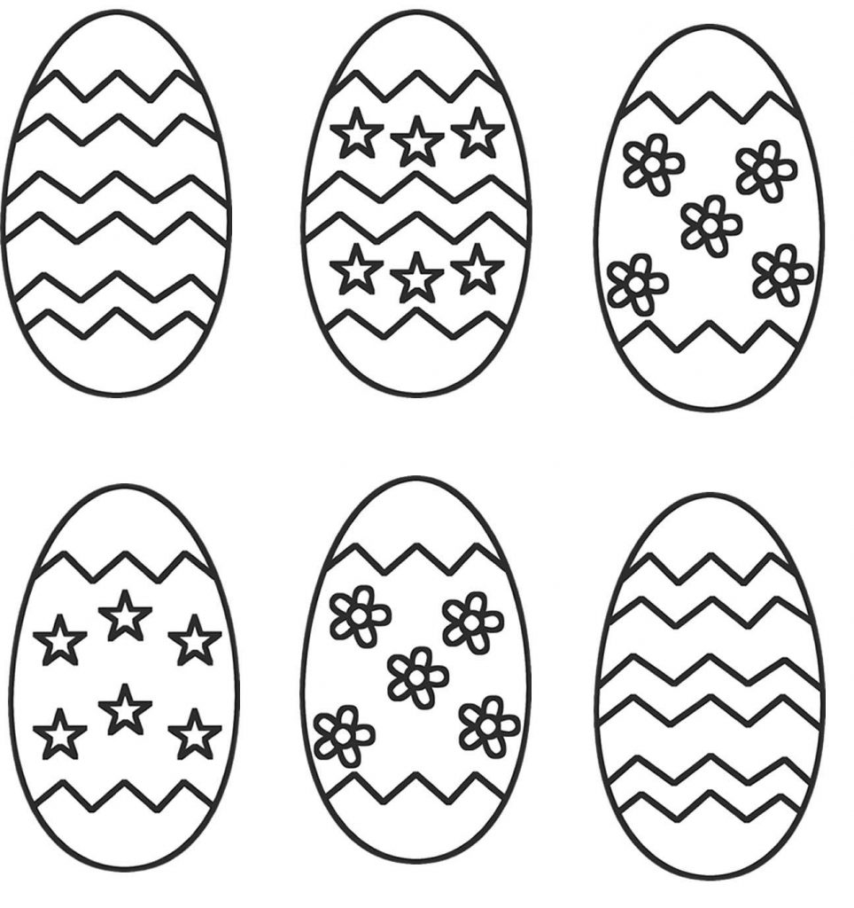 Easter Egg Coloring Activity