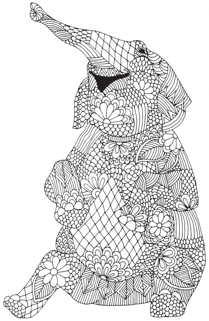 Elephant Animal Coloring Pages