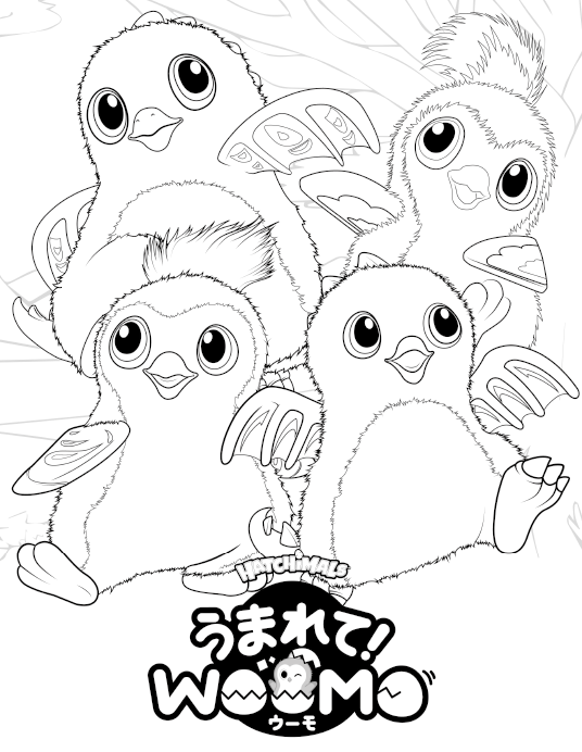 Free Hatchimals Coloring Pages