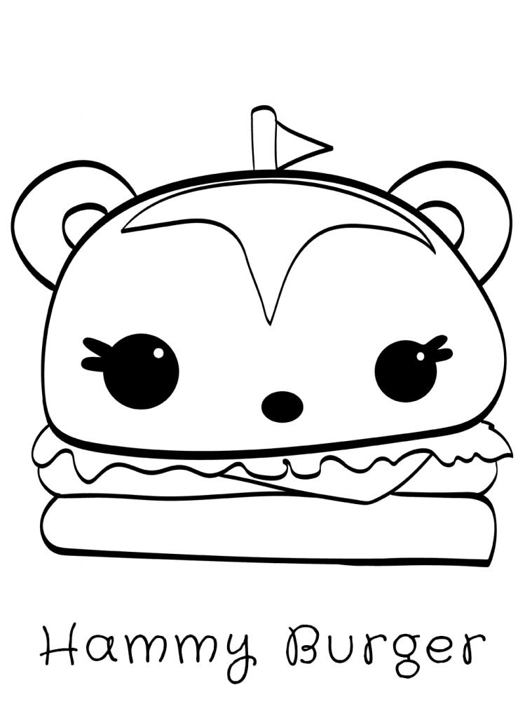 Hammy Burger Num Noms Coloring Pages