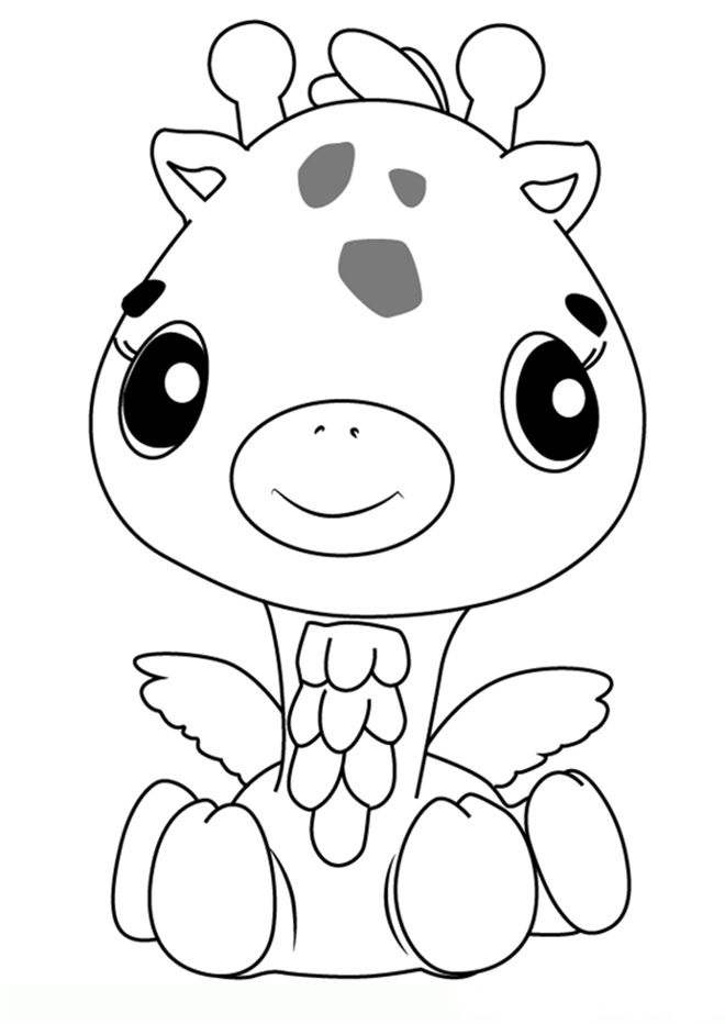 Hatchimals Coloring Pages Giraffe