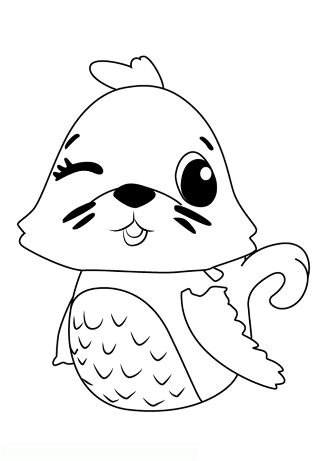 Hatchimals Coloring Pages Seal