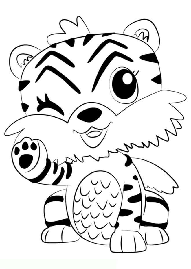Hatchimals Coloring Pages Tiger