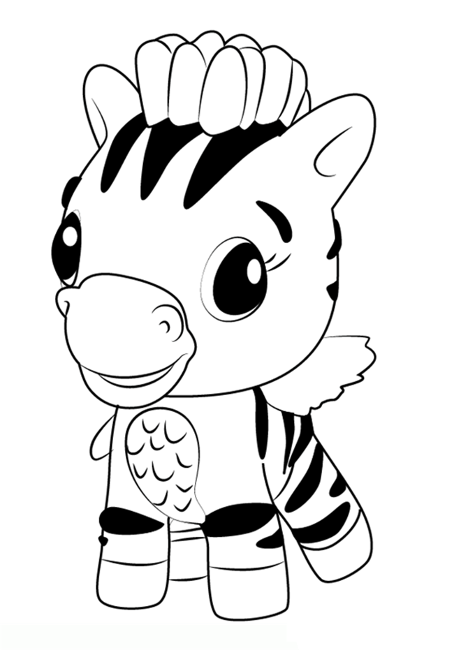 Hatchimals Coloring Pages Zebra