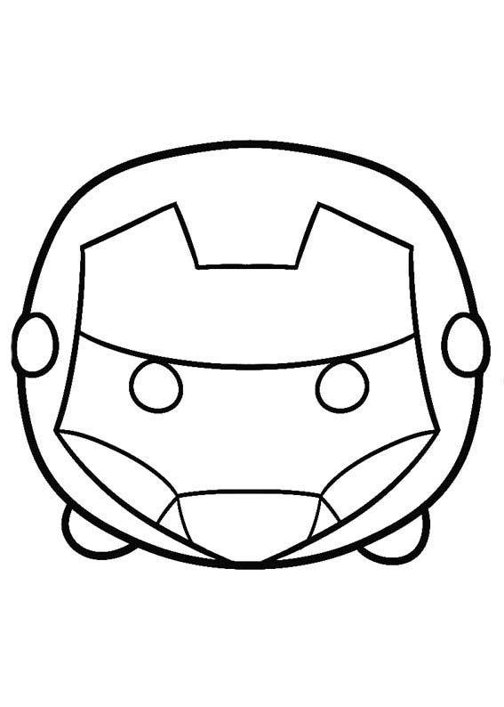 Iron Man Tsum Tsum Coloring Pages