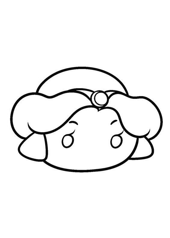 Jasmine Tsum Tsum Coloring Pages