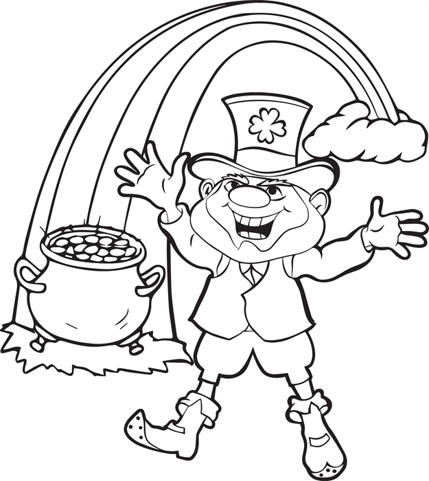 Leprechauns Gold Coloring Page