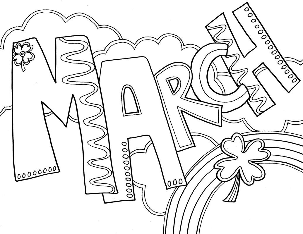 March Coloring Pages Best Coloring