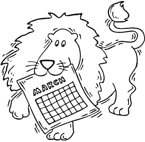March Lion Coloring Pages