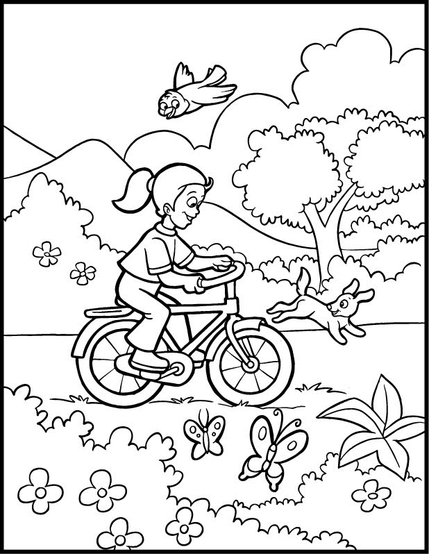 March Spring Coloring Pages