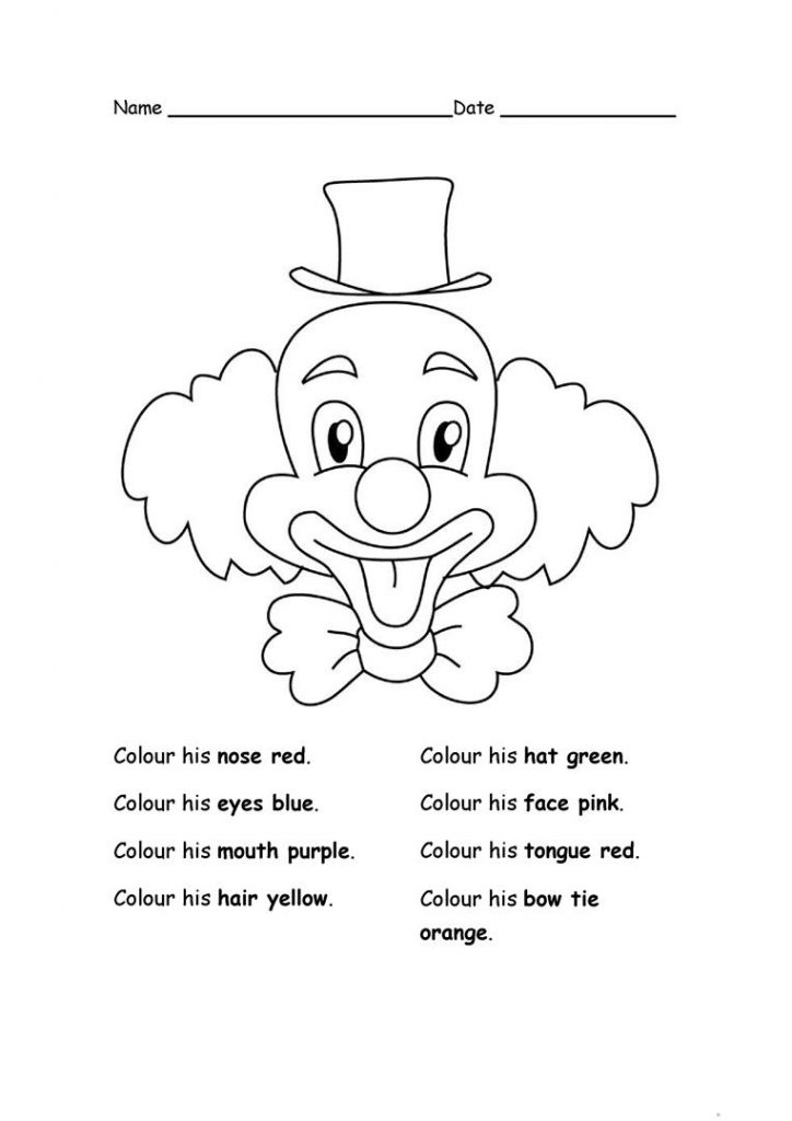 Mardi Gras Coloring Worksheets
