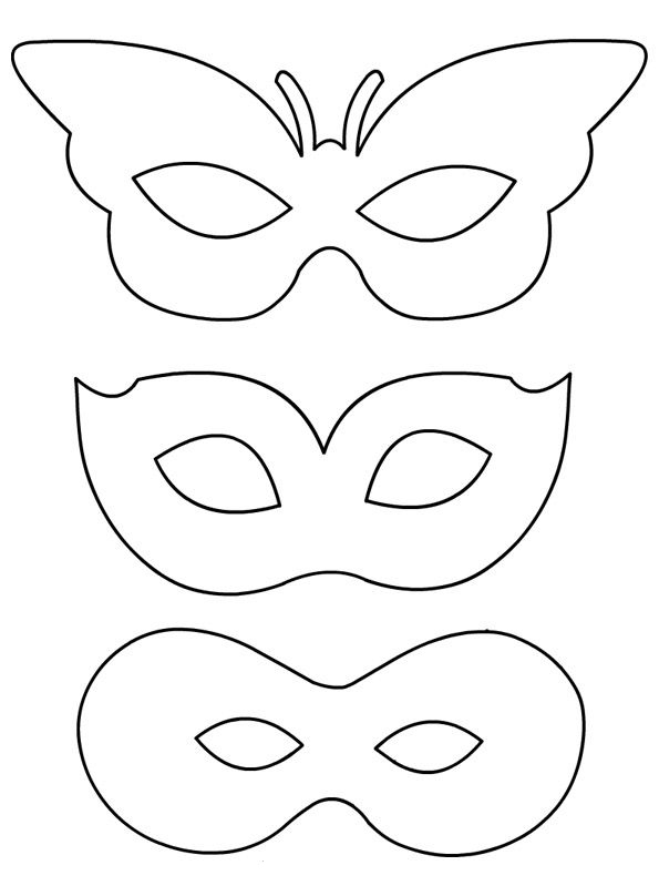 Mardi Gras Mask Decoration Worksheets