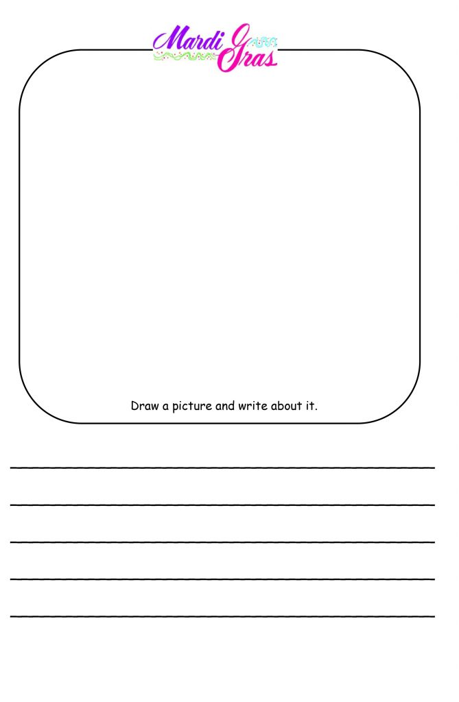 Mardi Gras Writing Worksheets