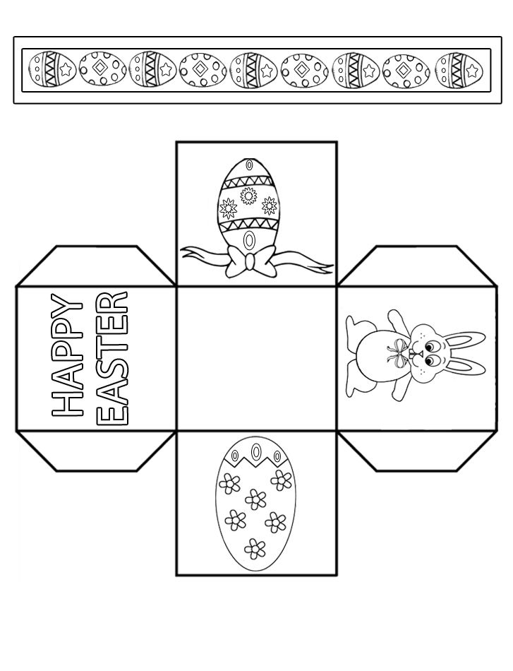 Paper Easter Activity Box Template