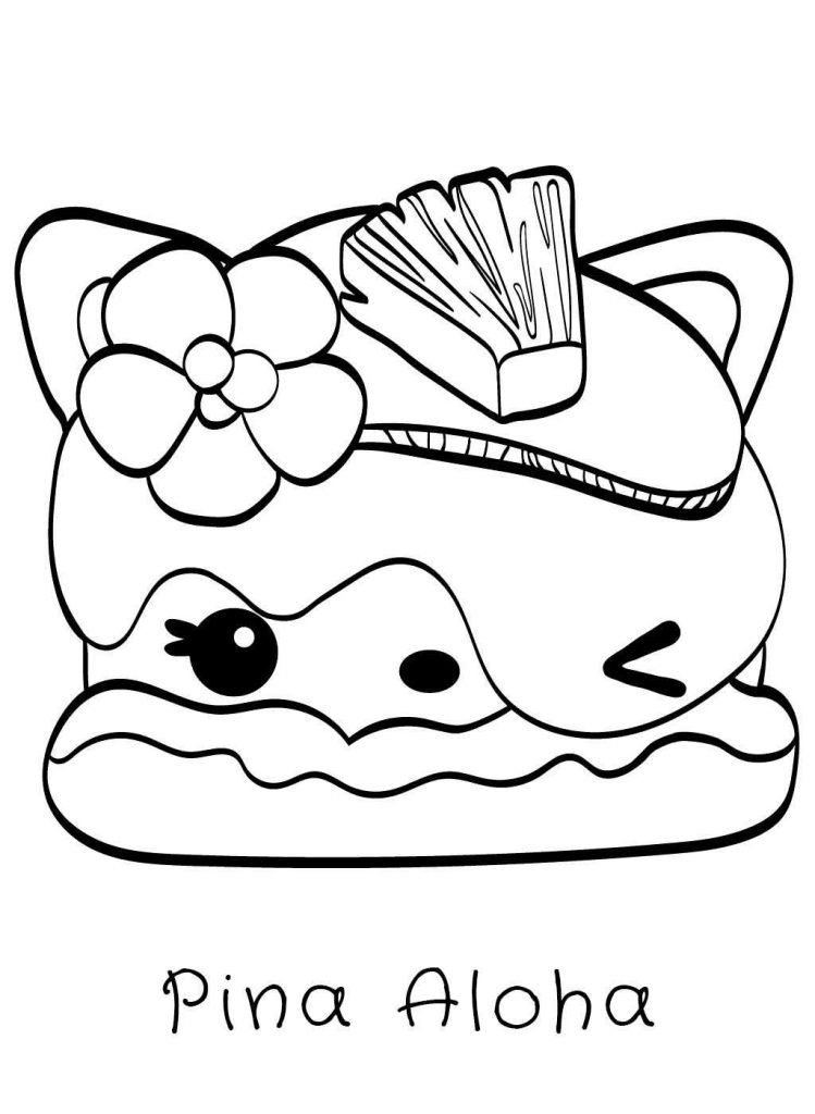Pina Aloha Num Noms Coloring Pages