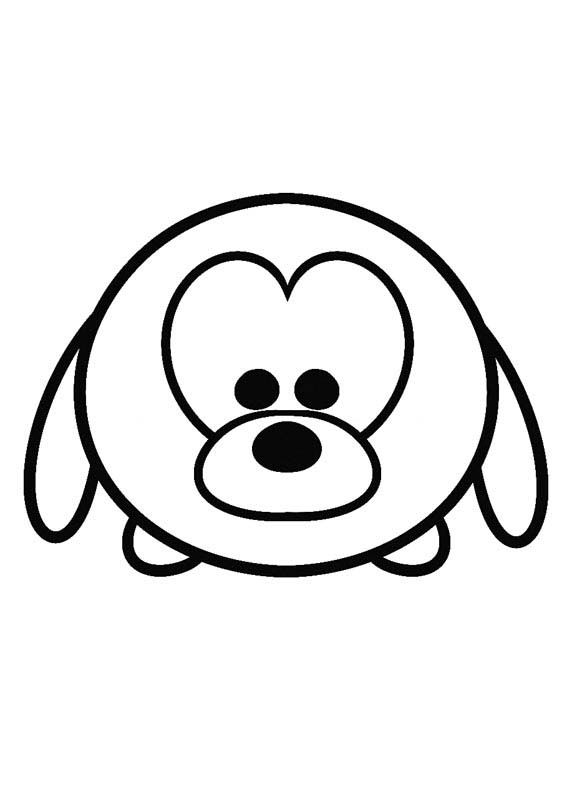 Pluto Tsum Tsum Coloring Pages