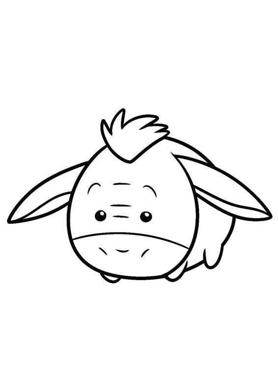 Pooh Eeyore Tsum Tsum Coloring Pages