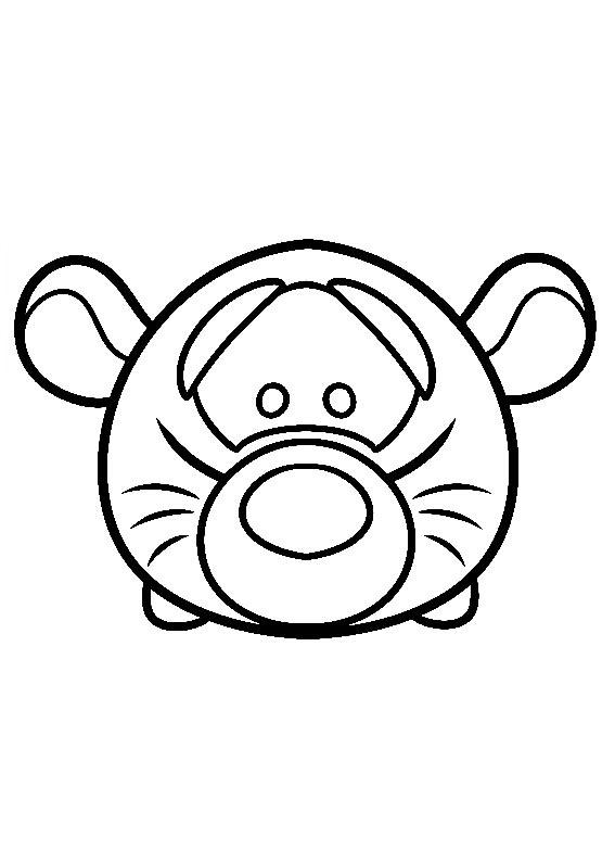 Pooh Tigger Tsum Tsum Coloring Pages