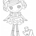 Pretty Button Doll Coloring Page