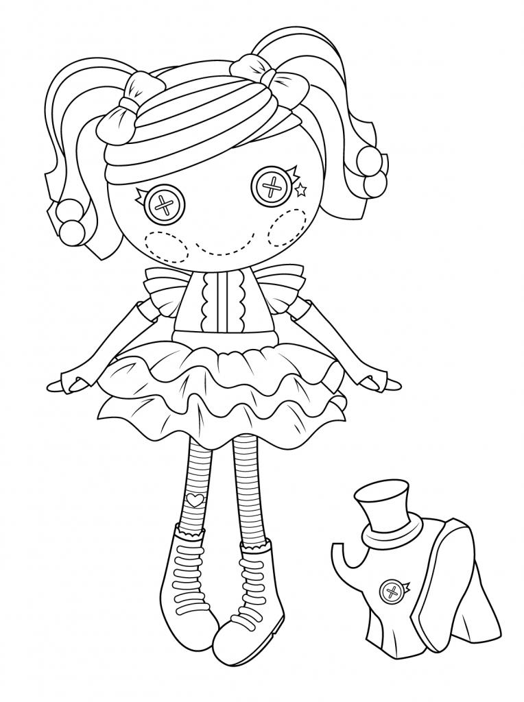 Pretty Button Doll Coloring Page