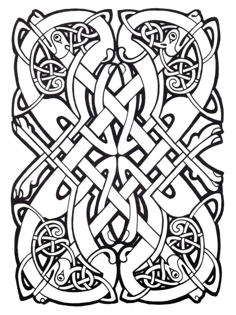 Print Free Celtic Coloring Pages