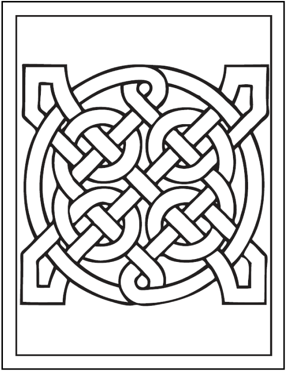 Printable Celtic Art Coloring Pages